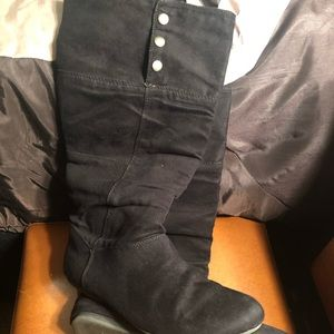 Faux Suede Convertible Boots